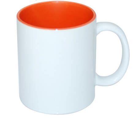 330 ml-es JS Coating bögre narancssárga belső résszel, szublimáláshoz, préseléshez