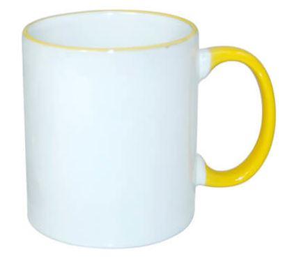 330 ml-es JS Coating bögre sárga füllel, szublimáláshoz, préseléshez