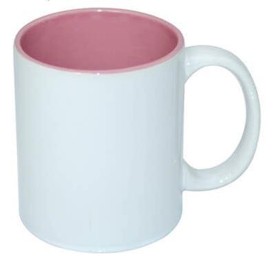 330 ml-es JS Coating bögre rózsaszín belső résszel, szublimáláshoz, préseléshez