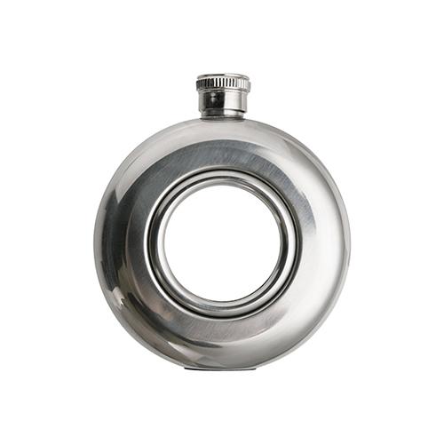 Szublimálható kerek fém lapos üveg 150 ml