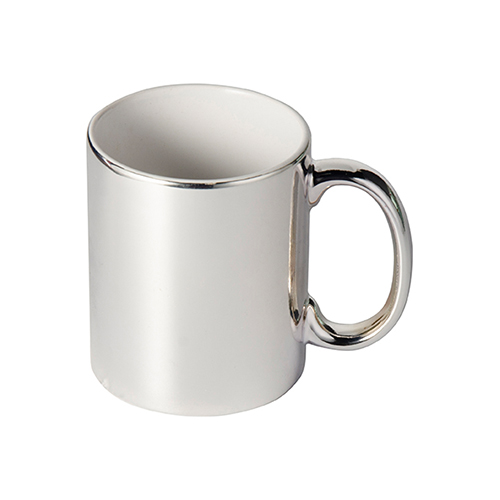 Szublimálható 330 ml-es bögre - ezüst