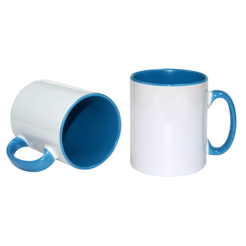 Szublimálható 300 ml-es kék Funny bögre