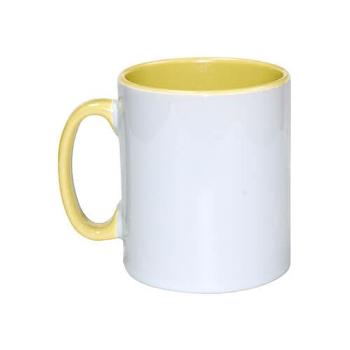 Szublimálható 300 ml-es sárga Funny bögre