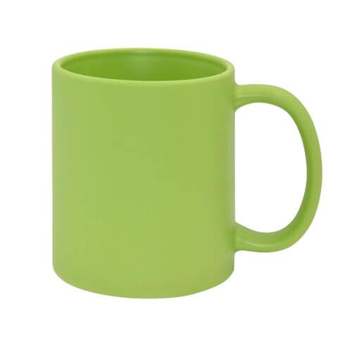 Teljesen színes bögre - matt zöld, szublimáláshoz, préseléshez