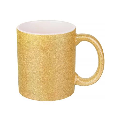 Szublimálható 330 ml-es csillám bögre - arany