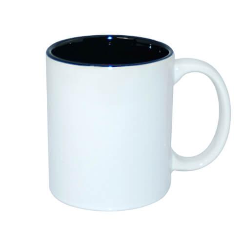 330 ml-es A+ bögre fekete belső résszel, szublimáláshoz, préseléshez