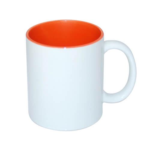 330 ml-es A+ bögre narancssárga belső résszel, szublimáláshoz, préseléshez
