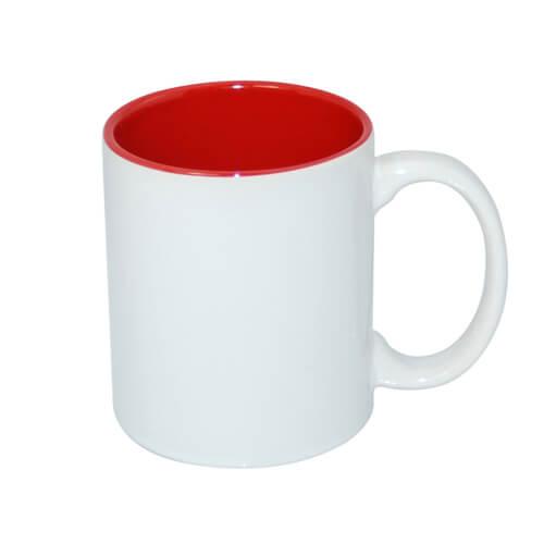 330 ml-es A+ bögre piros belső résszel, szublimáláshoz, préseléshez