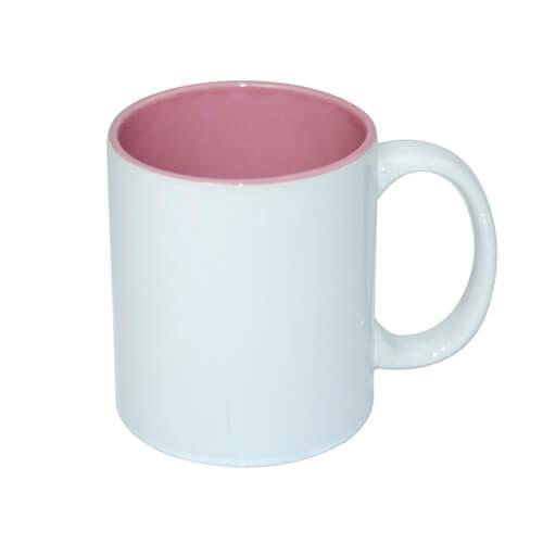 330 ml-es A+ bögre rózsaszín belső résszel, szublimáláshoz, préseléshez