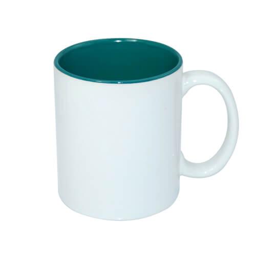 330 ml-es A+ bögre zöld belső résszel, szublimáláshoz, préseléshez