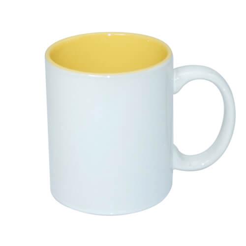 330 ml-es A+ bögre sárga belső résszel, szublimáláshoz, préseléshez