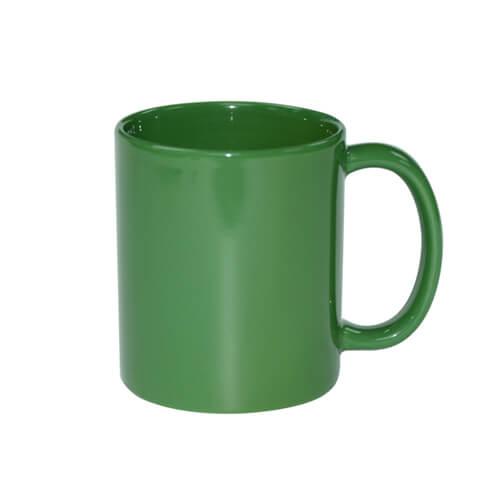 Teljesen színes bögre - fényes zöld, szublimáláshoz, préseléshez