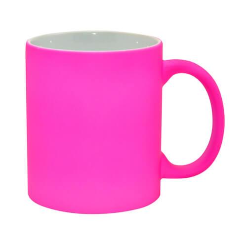 Neon bögre - matt rózsaszín, szublimáláshoz, préseléshez