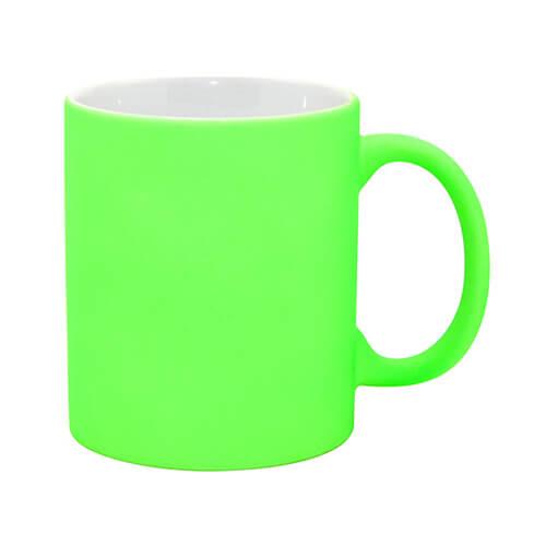 Szublimálható Neon bögre - matt zöld