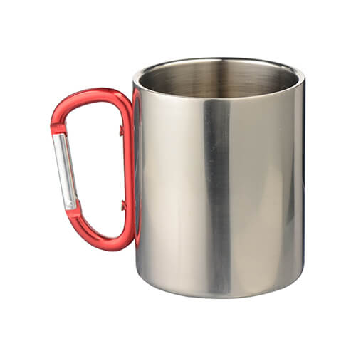 300 ml-es fém csésze karabiner füllel, szublimáláshoz
