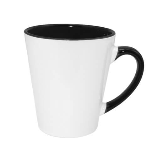 Kis FUNNY latte bögre, fekete belső résszel, szublimáláshoz, préseléshez