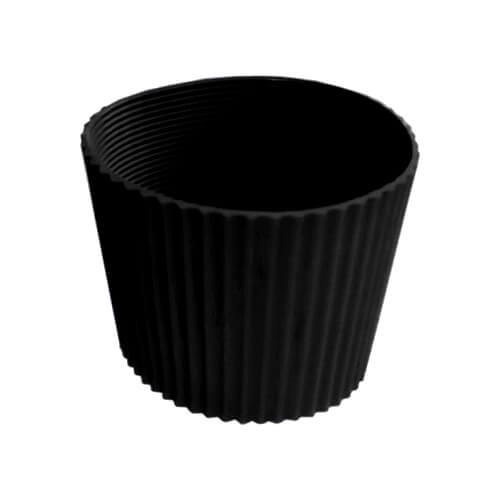 Gumi szalag ECO termosz bögréhez - fekete
