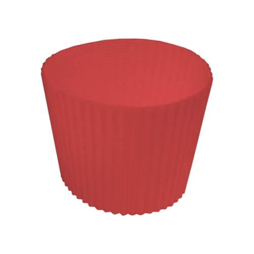 Gumi szalag ECO termosz bögréhez - piros