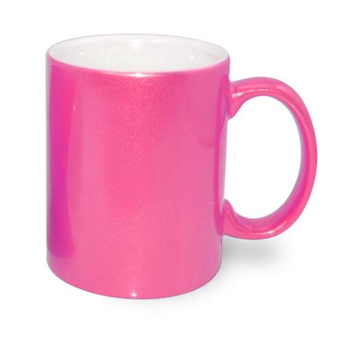 330 ml-es fémes sötét rózsaszín bögre, szublimáláshoz, préseléshez