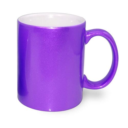 330 ml-es fémes lila bögre, szublimáláshoz, préseléshez