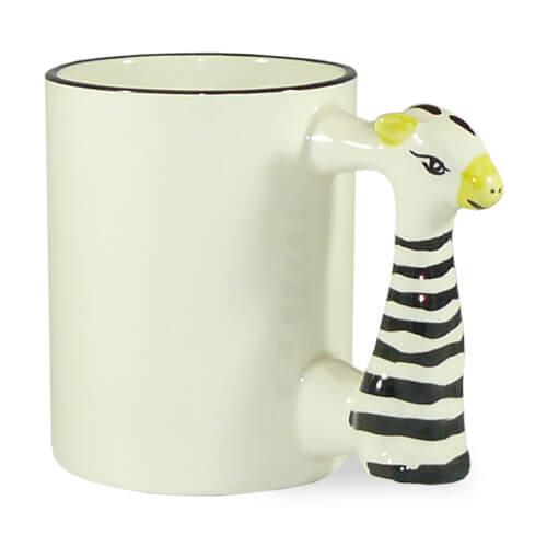 330 ml-es zebrás bögre, szublimáláshoz, préseléshez