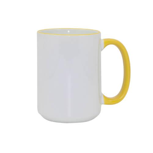 450 ml-es A+ MAX bögre sárga füllel, szublimáláshoz, préseléshez