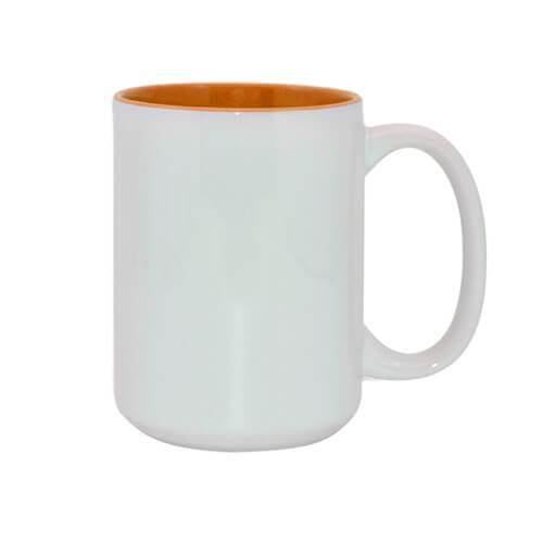 450 ml-es A+ MAX bögre narancssárga belső résszel, szublimáláshoz, préseléshez