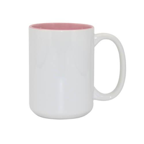 450 ml-es A+ MAX bögre rózsaszín belső résszel, szublimáláshoz, préseléshez