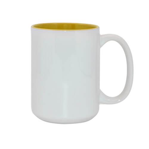 450 ml-es A+ MAX bögre sárga belső résszel, szublimáláshoz, préseléshez