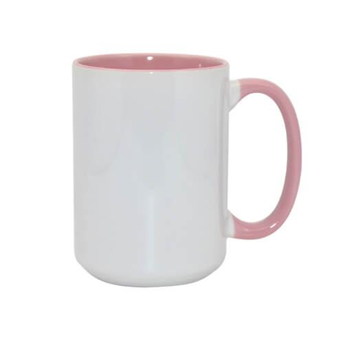 450 ml-es A+ FUNNY MAX bögre, rózsaszín, szublimáláshoz, préseléshez