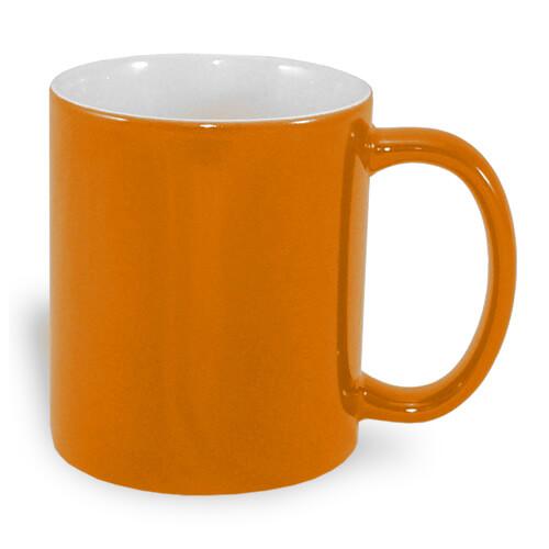 330 ml-es A+ varázsbögre, narancssárga, szublimáláshoz, préseléshez
