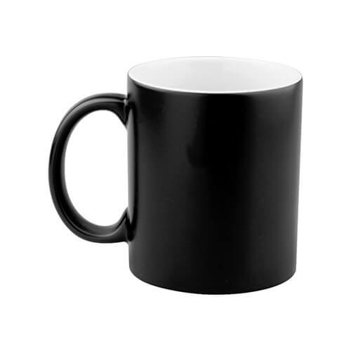 330 ml-es matt fekete varázsbögre szublimáláshoz, préseléshez