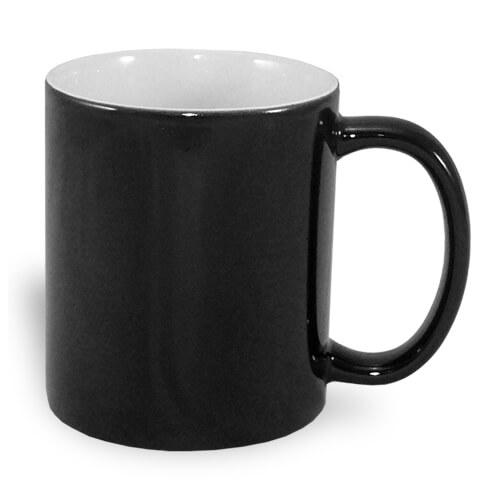 330 ml-es A+ varázsbögre, fekete, szublimáláshoz, préseléshez