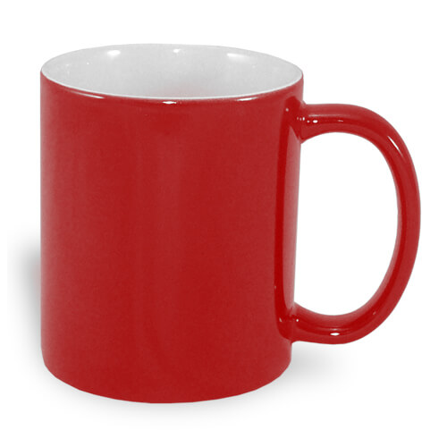 330 ml-es A+ varázsbögre, piros, szublimáláshoz, préseléshez