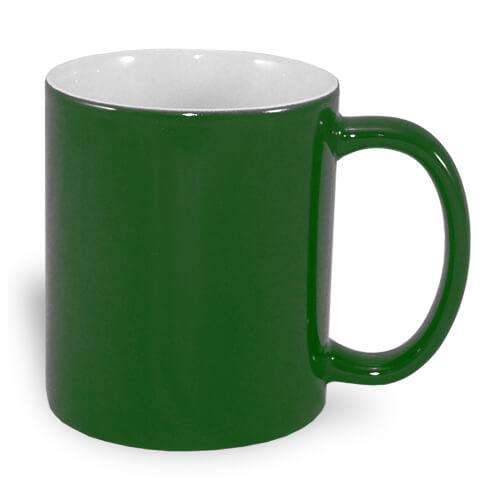 330 ml-es A+ varázsbögre, zöld, szublimáláshoz, préseléshez