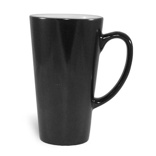Nagy latte bögre, Absolute Magic, fekete, szublimáláshoz, préseléshez