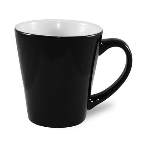 Kis latte bögre, Absolute Magic, fekete, szublimáláshoz, préseléshez