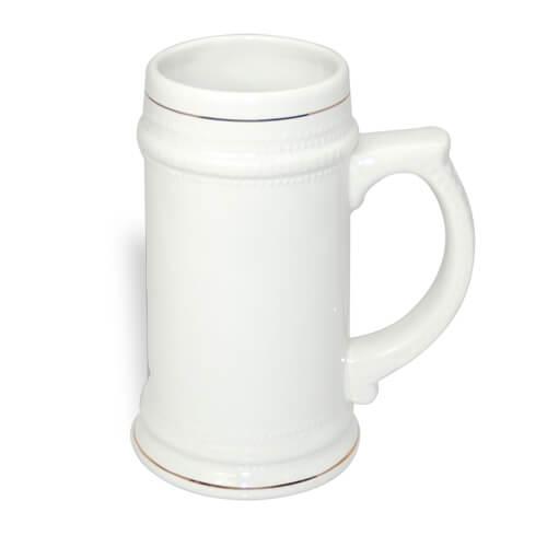 Fehér söröskorsó arany szegéllyel, szublimáláshoz, préseléshez