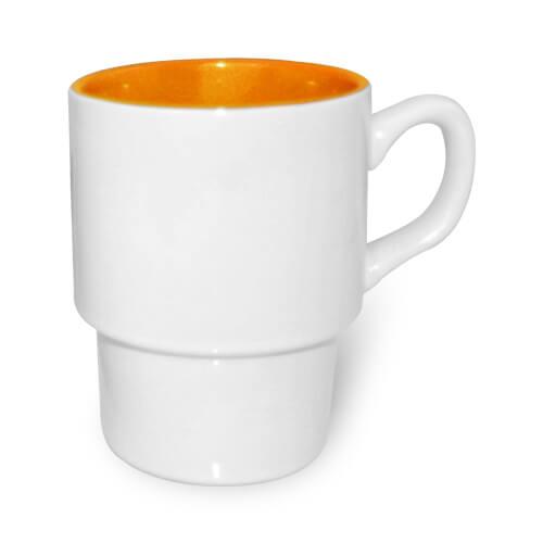 Szublimálható Retro bögre narancssárga belső résszel