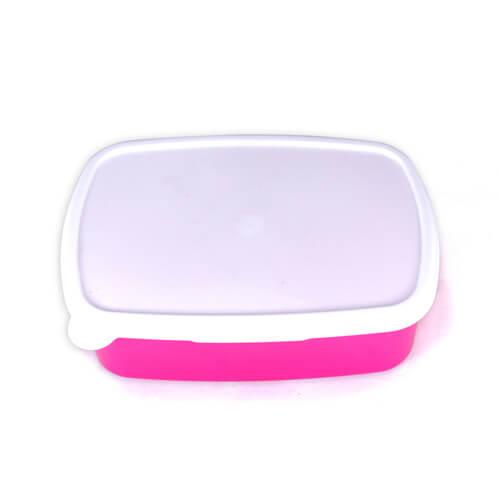18 x 13 cm-es rózsaszín műanyag doboz szublimáláshoz, préseléshez