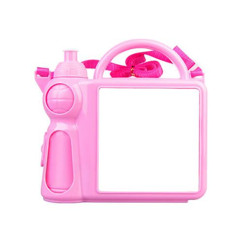 Szublimációs uzsonnás doboz gyerekeknek - rózsaszín