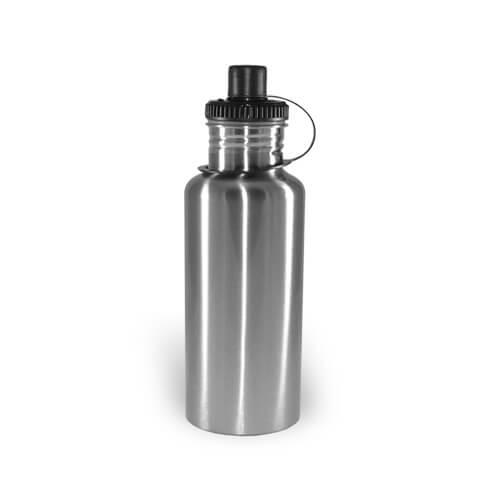 500 ml-es, ezüst színű MAX turista kulacs szublimáláshoz, préseléshez