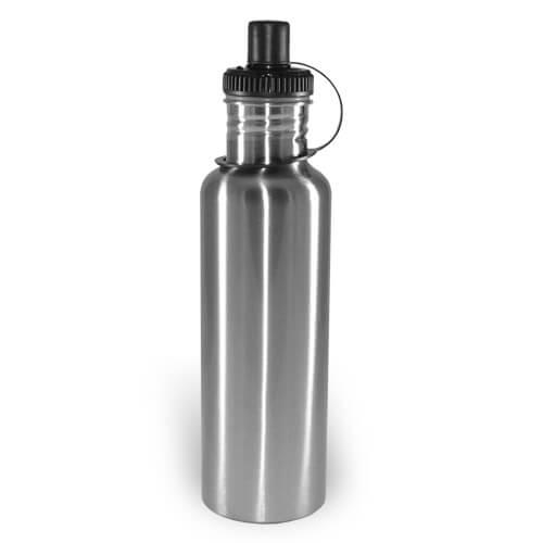 750 ml-es, ezüst színű MAX turista kulacs szublimáláshoz, préseléshez