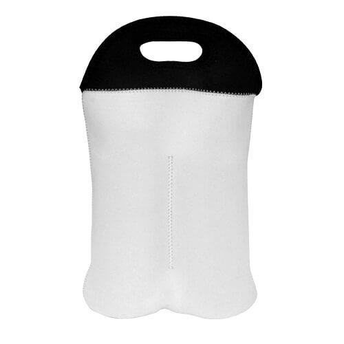 23,5 x 38 cm-es két palackos hőszigetelő boros táska szublimáláshoz, préseléshez