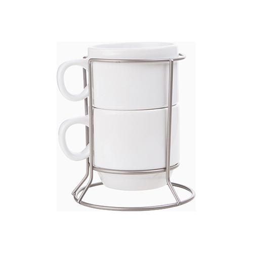 Szublimálható két készletű 170 ml-es csészék huzal álványon
