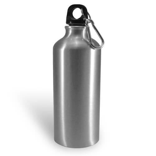 400 ml-es, ezüst színű turista kulacs szublimáláshoz, préseléshez