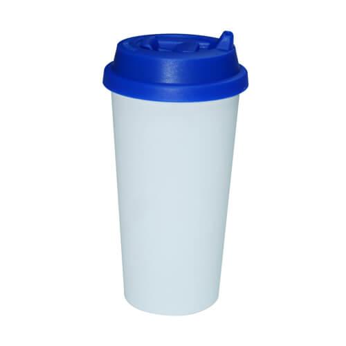 ECO kávés termosz bögre sötétkék fedővel, szublimáláshoz, préseléshez