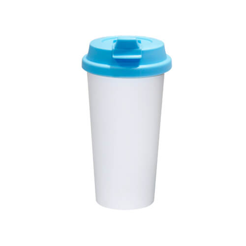 ECO kávés termosz bögre kék fedővel, szublimáláshoz, préseléshez