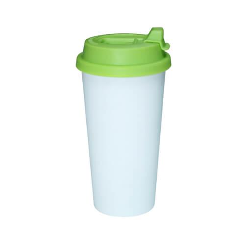 ECO kávés termosz bögre világoszöld fedővel, szublimáláshoz, préseléshez