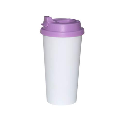 ECO kávés termosz bögre lila fedővel, szublimáláshoz, préseléshez